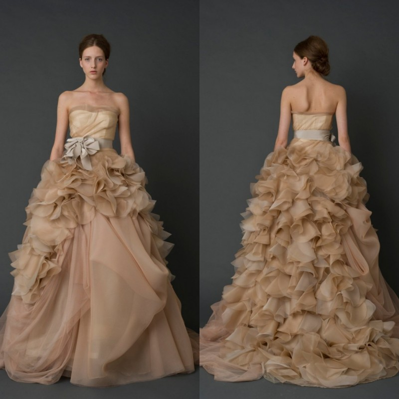 Popular Chocolate Brown Wedding Dresses-Buy Cheap