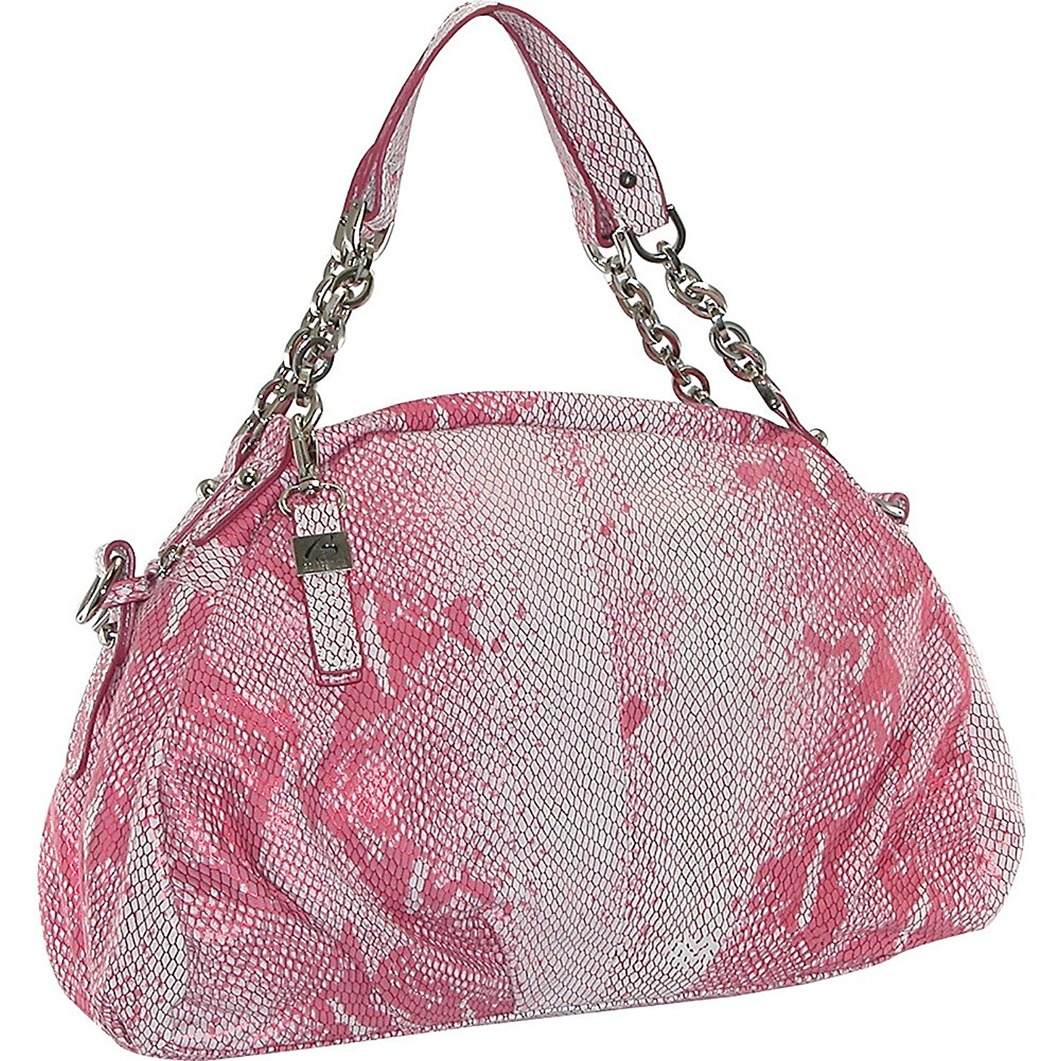 Get Quotations · Buxton Metallic Embossed Snake Skin Hobo (Rose) 5a739c1a9b