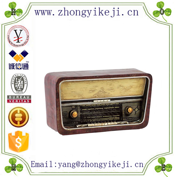 2015 chinese factory custom made handmade carved hot new products resin antique radios for sale