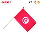 high quality factory supply country pattern hand waving metal pole flag
