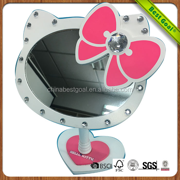 lovely cat shape table makeup mirror
