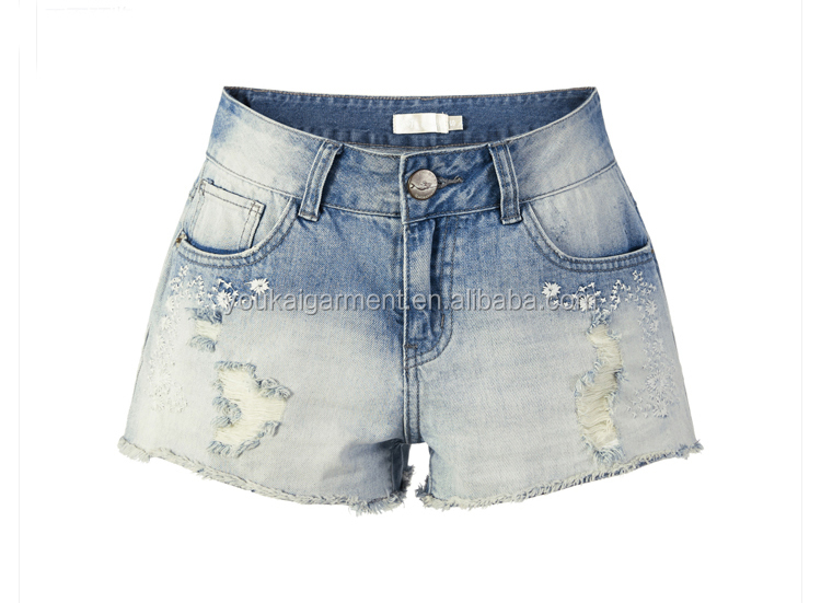 urban fashion mujer clothes women denim ripped vintage short pants skinny Jeans shorts mini pants