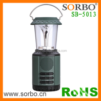 Emergency Lamp Rechargeable Solar Crank Dynamo Lantern FM AM Radio