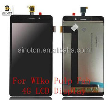 Original For WIko Pulp Fab 4G LCD Display with Touch Screen Digitizer Assembly Replacement