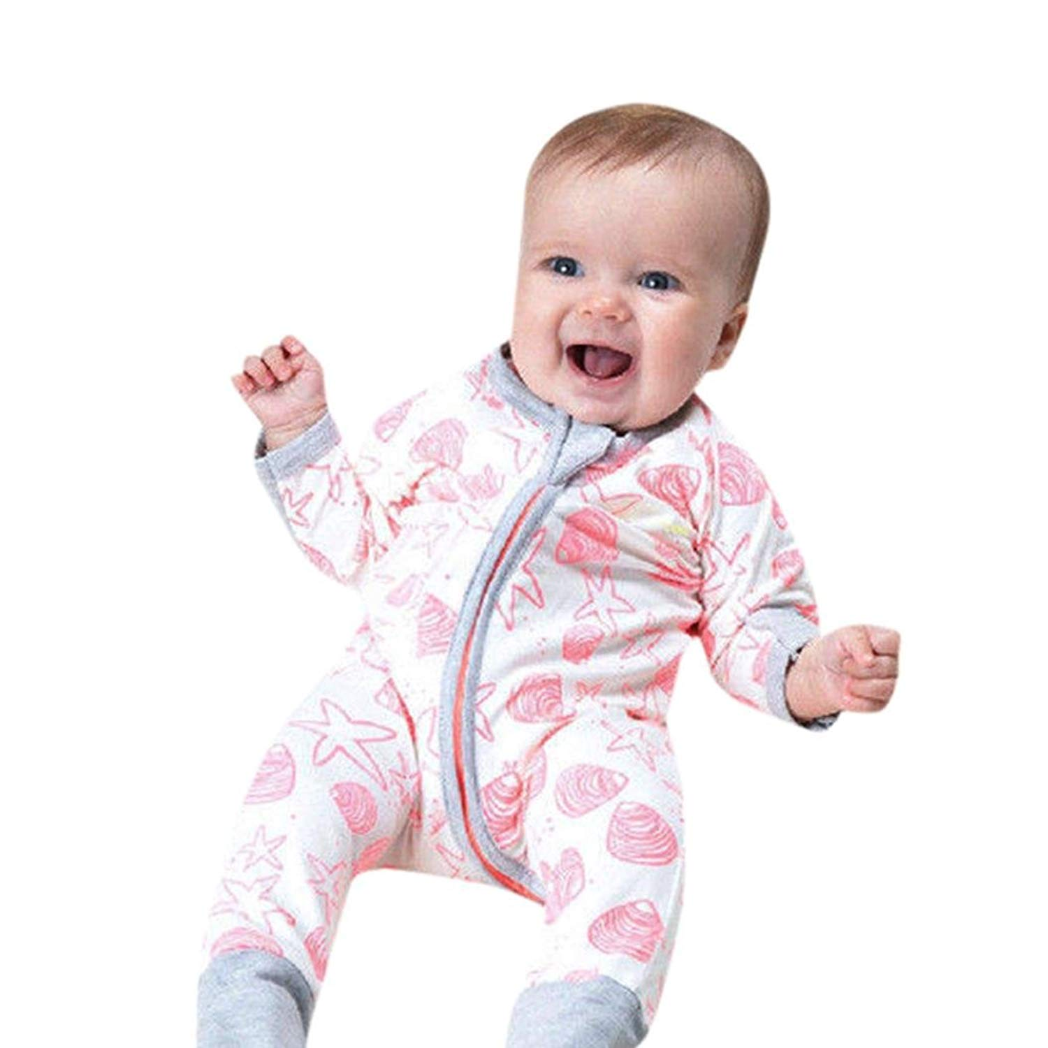 3845d58e9 Get Quotations · KaiCran Baby Boy Gilrs Sleepers Cute Rompers Infant Baby  Girls Boys Long Sleeve Zipper Romper Jumpsuit