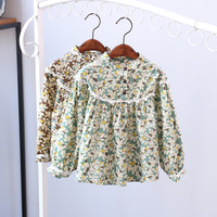 NSD1053 2017 New Spring latest dress designs photos colorful flower print baby frocks one piece girls dresses