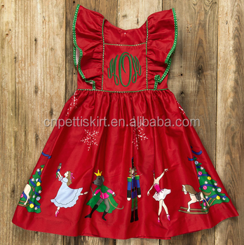 8f5ffd1b2d63 2017 new arrival red christmas series pretty kids cotton frocks design  wholesale bouitque elegant girl dress