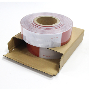 Cinta Adhesiva Reflectiva dot c2 Conspicuity Red White Reflective Safety Tape with best quality and low price