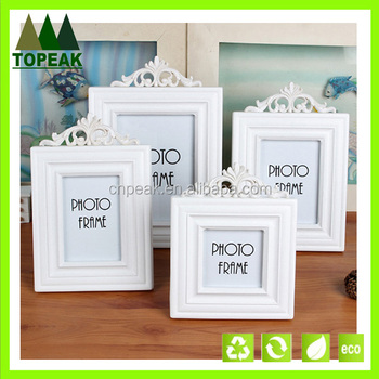 Retro European White Simple Wooden Frames Designs / Wooden Picture ...