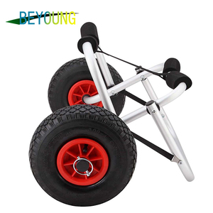 Boat Folding Beach Trolley Cart Folded Beach Trolley Collapsible Kayak Cart Stabilizer Accessories for Kayak