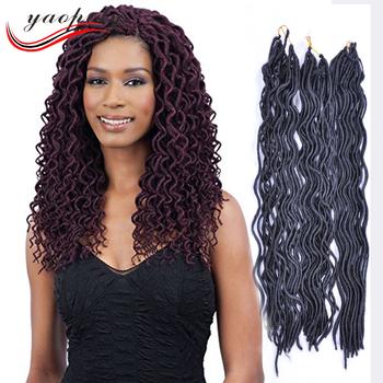 Top Quality Soft Dread Locks Synthetic Hair Crochet Braids 18inch 2x