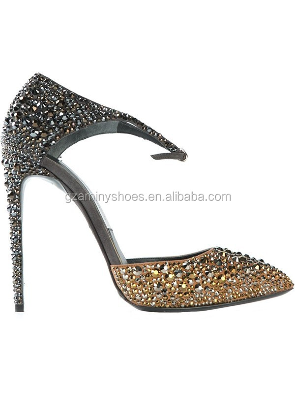 HOT Party Toe Pointy Shoes Shoes Sexy High Dress 2015 Women Rhinestone Lady Heel Pump HSUHr6aw1q