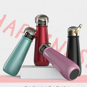 Novelty gifts items Crystal diamond thermos bottle health double vacuum sealed cup