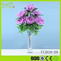 10 heads long stem chrysanthemum flower made of silk floor decoration flower