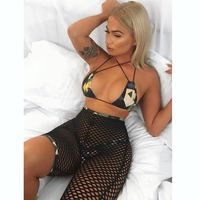 2019 Sexy Mesh Swimsuit Bandeau Bathing Suit And Three Pieces Bikini