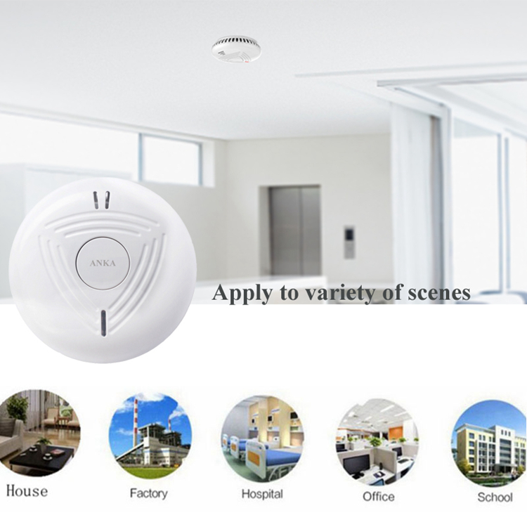 EN approved independent wireless smoke detector Sound &Flash Alarm