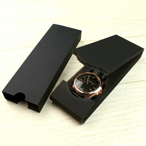 MY-01Hot Selling Luxury Folded Black Watch Box Display packaging BOX