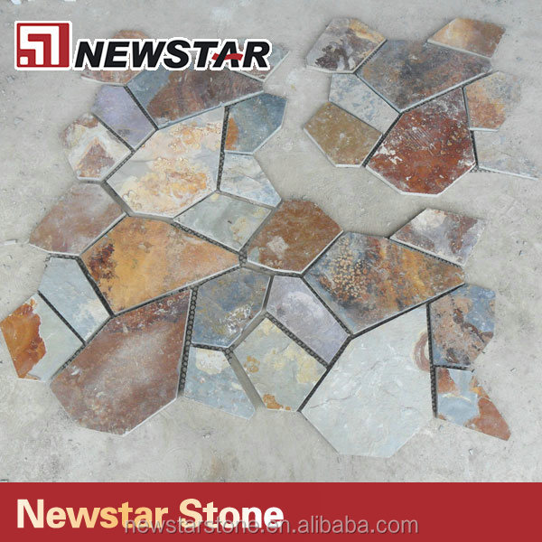Hot sale outdoor decoration natural slate flagstone flooring