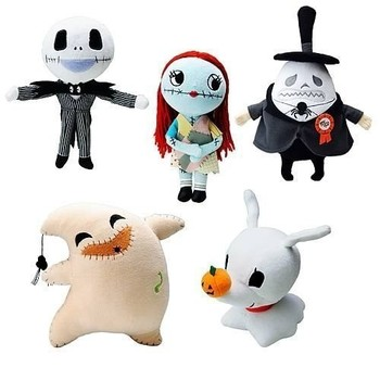 cute nightmare before christmas plush toy set includes jack sally oogie boogie zero