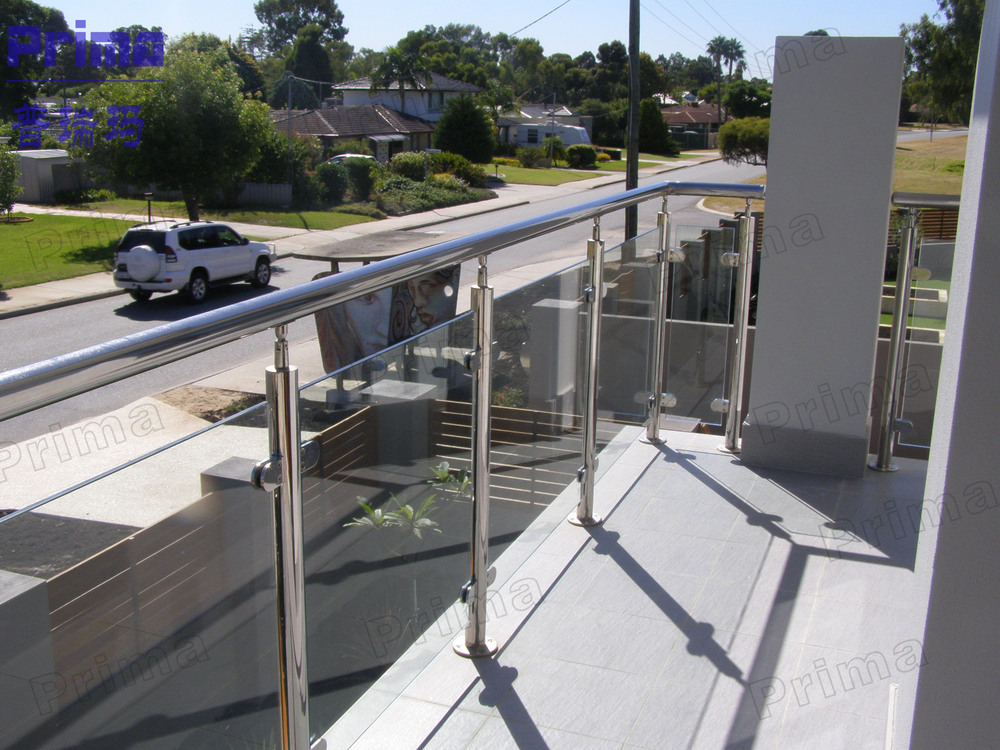 Simple design diy wire balustrade with stainless steel for Balcony balustrade