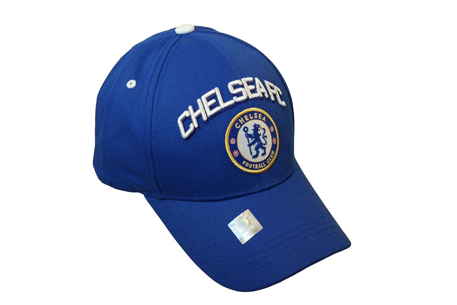 Get Quotations · Chelsea FC- Hat Cap Curved Bill Adjustable-Blue White e6f71b20b45e