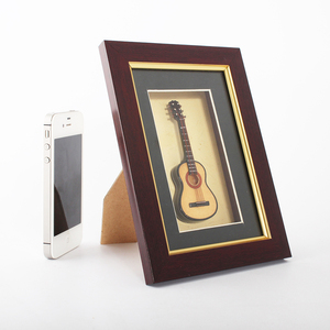Mini guitar unique decoration frame and decorative photo frame art frame wood