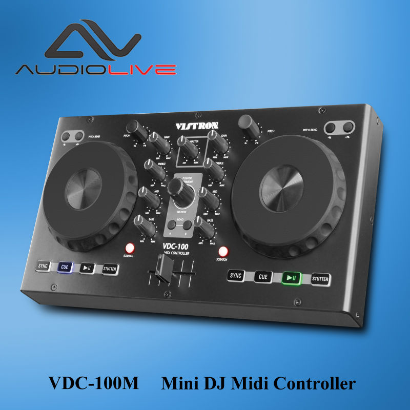 dj pro lighting controller Portable 2 Channel Best light DJ controller 2017 with Virtual Mini DJ Midi Controller