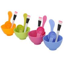 1Set New Homemade 6in1 Makeup Beauty DIY Facial Face Mask Bowl Brush Spoon Stick Tool Set