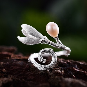 New Flower rings jewelry women 925 sterling silver