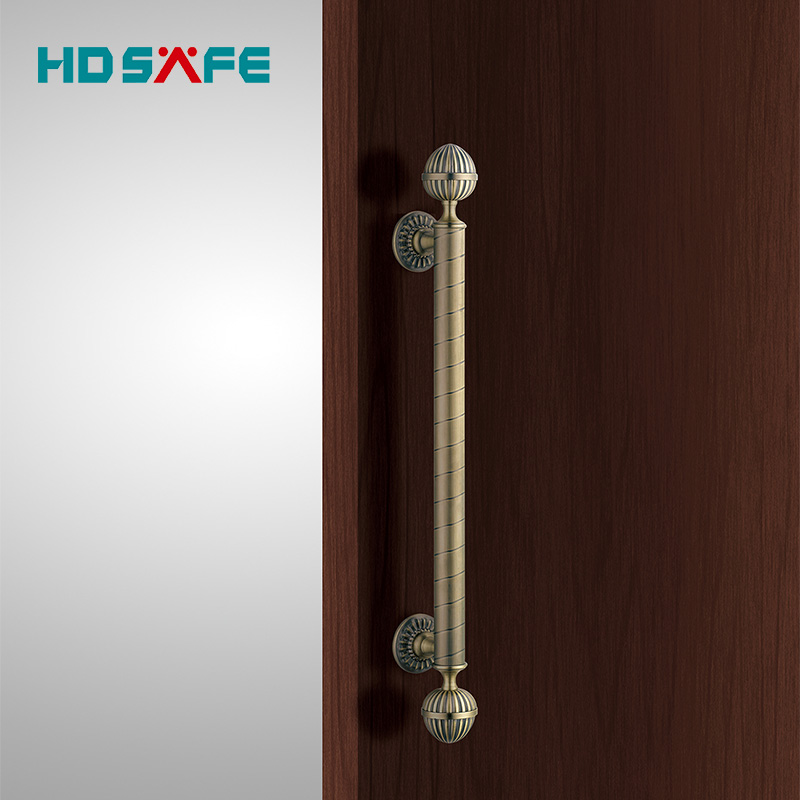 China antique design satin antique brass lever door handle for luxury design - China Antique Design Satin Antique Brass Lever Door Handle For