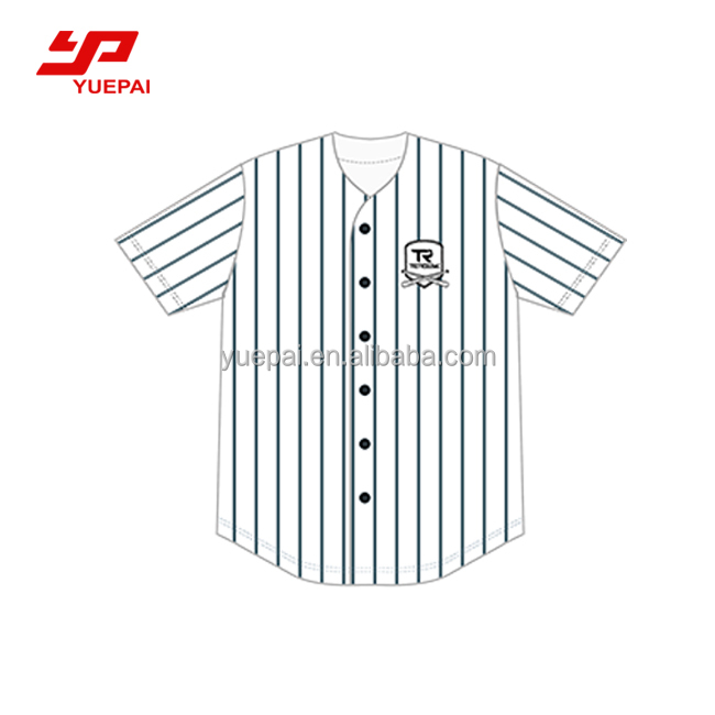 Sublimatie sport dragen baseball apparel plain custom baseball jersey patroon