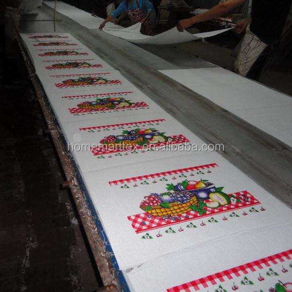 Cotton /polyester Velour Towel Fabric Silk Screen Printing Cute ...