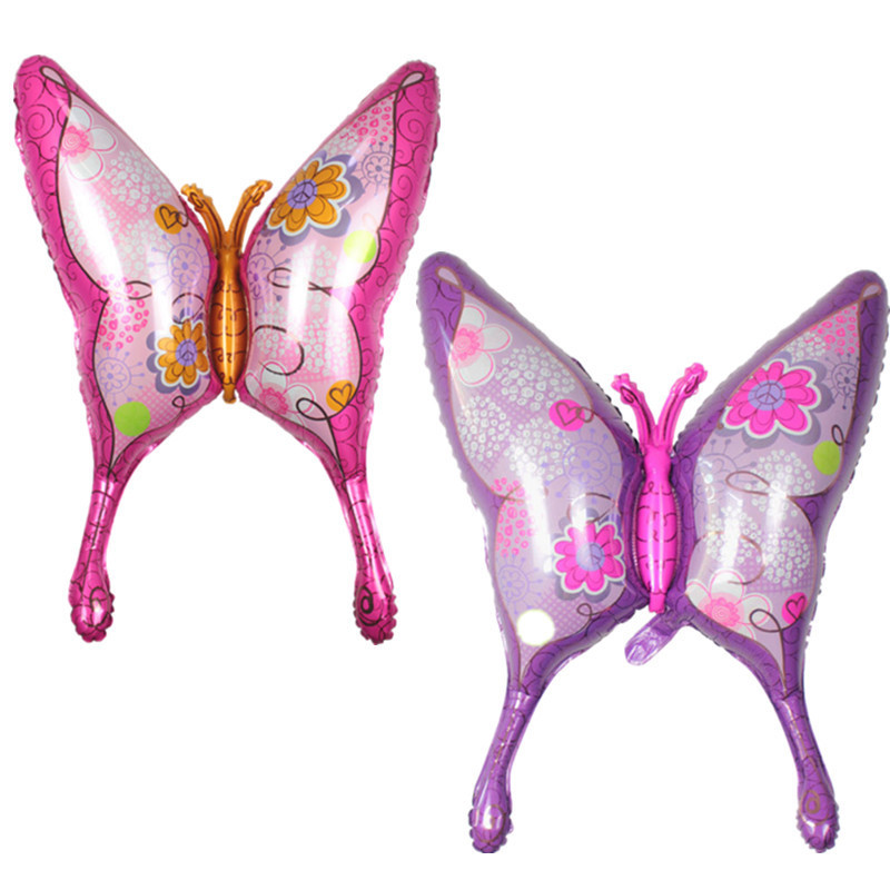 Baby Toys Butterfly Animal Aluminum Foil Balloon Baby Toy  Animal Balloon  For bithry Party Celemony Decoration