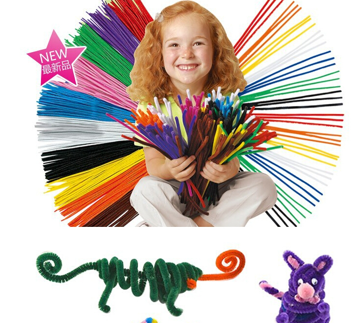 Educational Toys DIY toy Children materials shilly stick Plush Stick handmade art Christmas Intelligence toys pack