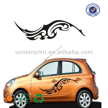 Professional custom made stickers on cars
