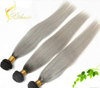 grey remy human hair weaving