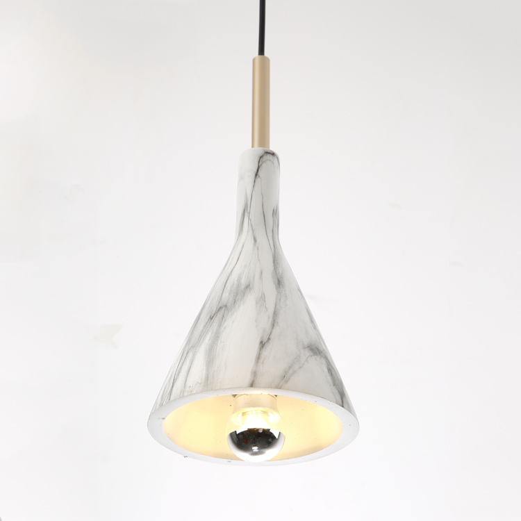 2019 New arrival modern decoration 3 arms resin pendant lamp from zhongshan manufacture