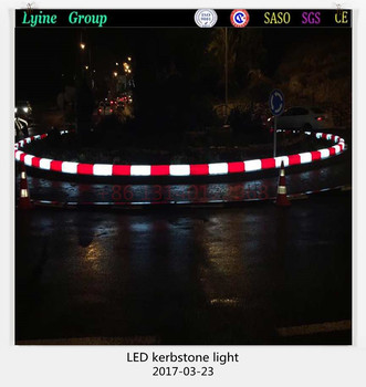 road foundation stone led light curb colorful sidewalk lighting