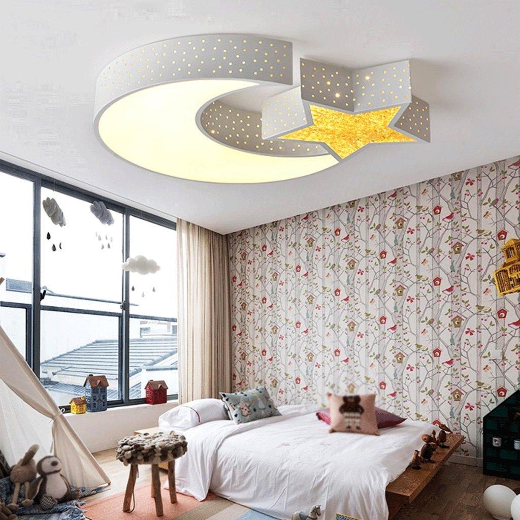 Fu Man Li Trading Company Children Art Room LED Ceiling Light Creative Bedroom Warmth Study Lamp A+ ( Color : Three color temperature , Size : 55cm )