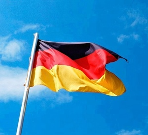 3x5 Foot Germany Flag - Vivid Color and UV Fade Resistant - Canvas Header and Double Stitched - German Flags Polyester with Bra
