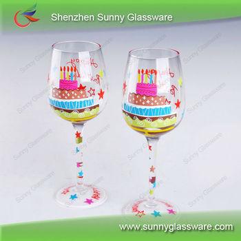 2013 New Style Birthday Gift Hand Painted Wine Glass
