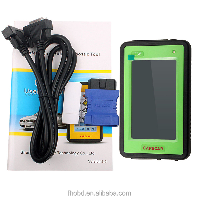 Professional universal auto diagnostic scanner carecar c68 for all cars Multi-Languages Arabic scanner with <strong>2</strong> years free update