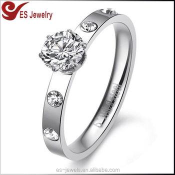 1696ef7eb77d Mejor venta 925 sol boda anillo de diamantes de plata 5925 piedra grande  anillo de oro