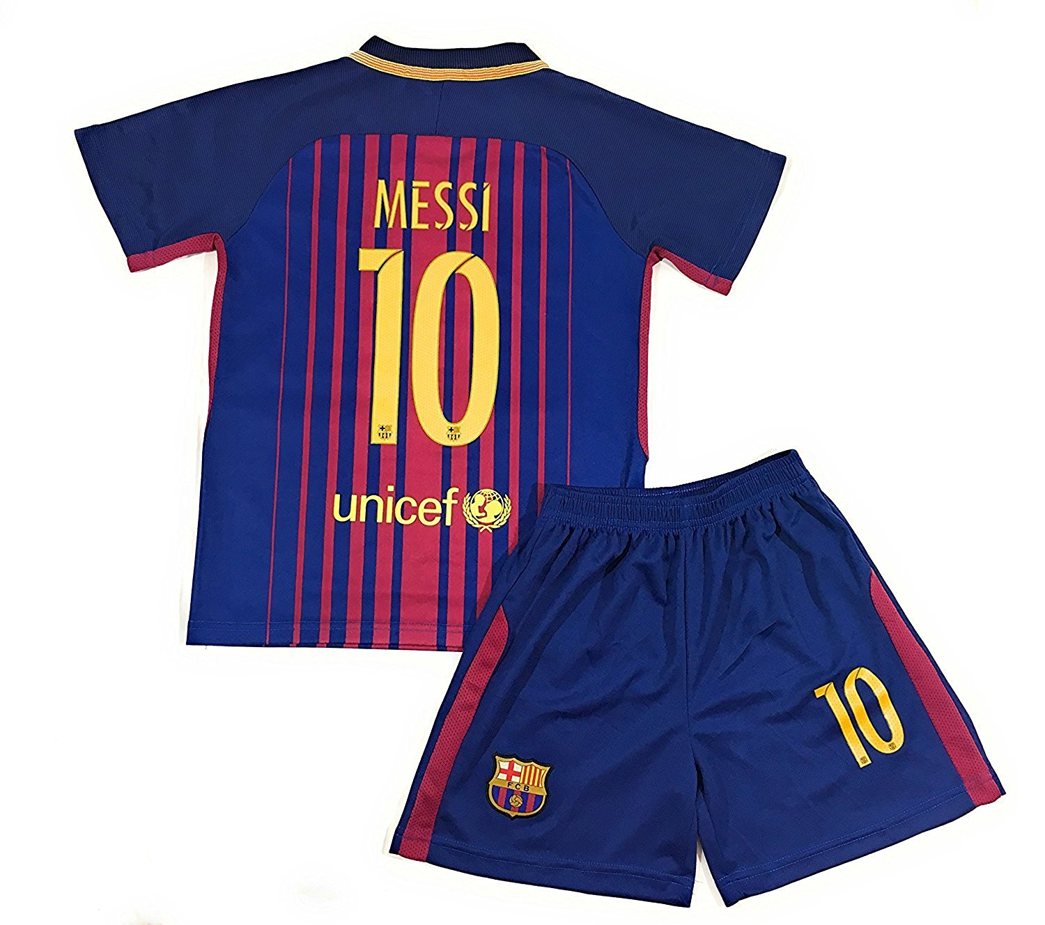 c16e2520c Get Quotations · Doug-thinks Messi  10 2017-2018 New Barcelona Home Kids Or Youth  Jersey
