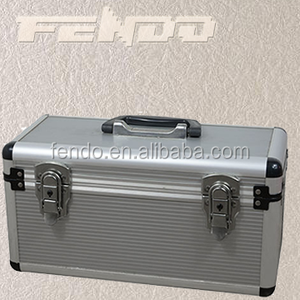 Aluminium Lockable Tool Case Toolbox Organiser Storage Box medical chest