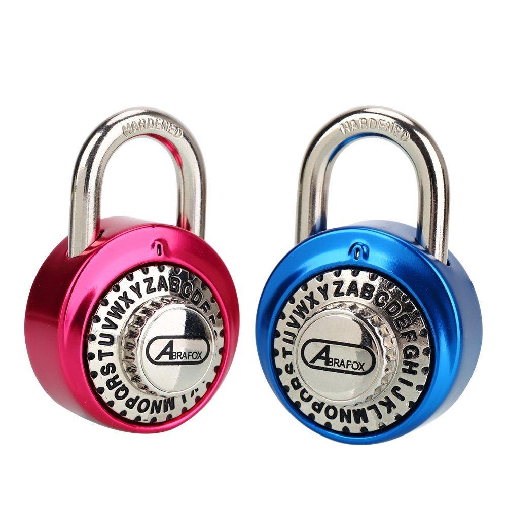 921a03ecfc ABRAFOX 2-Pack Standard Dial Combination Lock Heavy Duty Word Padlock for  School, Employee, Gym & Sports Locker, Case, Toolbox, Fence