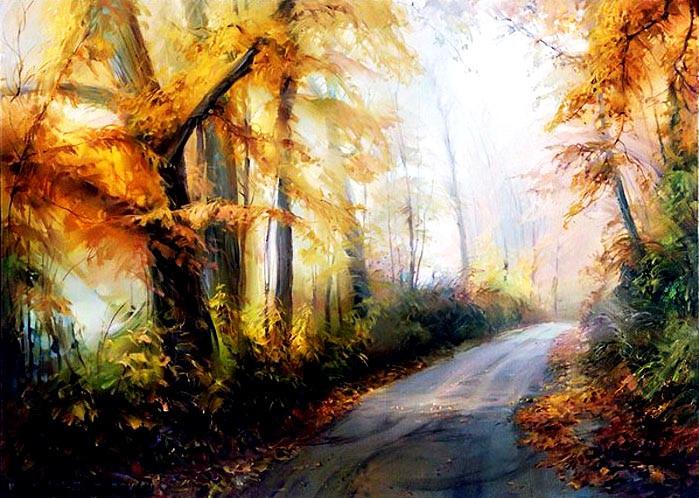 Fantasy Landscape Oil Painting