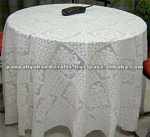 Exclusive Tablecloths From The Indian Collection Applique Work Table Cover  Handmade Table Linen   Buy Tablecloths,Applique Work Table Linen,White  Linen ...