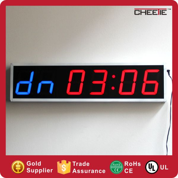 2016 CTS The Newest Product LED 6 Digit 4 Inch GYM Watch