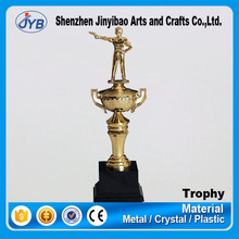 Design new products sports meeting souvenir gift resin shooting game trophy